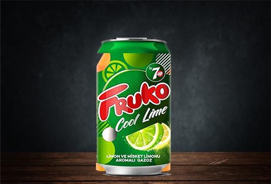Fruko Cool Lime Misket Limonu Aromalı Gazoz 330 Ml